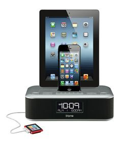 Loving this Triple-Charging Stereo Clock Radio With Dual Lightning Dock on #zulily! #zulilyfinds