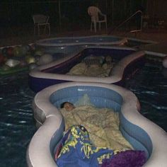 Sleepover in the pool using inflated pools Mercedes Auto, Slumber Party Games, Sleepover, Purple Wallpaper Phone, Best Family Board Games, Fashion Week Schedule, Cult Of Pedagogy, Family Game Night, Christmas Aesthetic