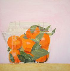 Sydney Licht, Still Life with Oranges 2013, Oil on panel