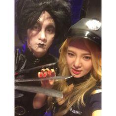Hyohyeon's instagram update.. halloweeenn party tonight.. awesome Key^^