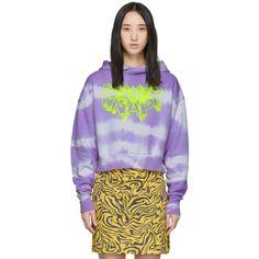 Ashley Williams Ssense Exclusive Purple Tie-dye Power Nap Hoodie In Lilac/yello Pop Fashion, Fashion Beauty, Ashley Williams, Tie Dye Patterns, Cotton Fleece, Long Hoodie, Fleece Hoodie, Purple, Lilac