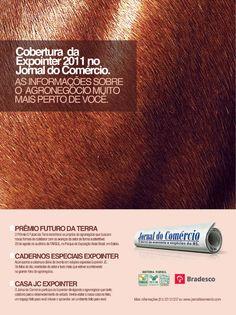 Campanha para cobertura jornalística de feira agropecuária.