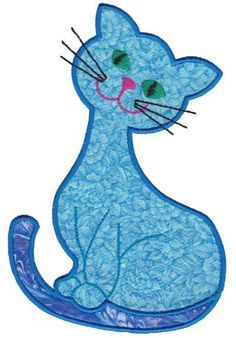 Appliques body art artists - Tattoos And Body Art Cat Quilt Patterns, Applique Patterns, Applique Designs, Quilting Designs, Machine Embroidery Designs, Patchwork Quilting, Applique Quilts, Embroidery Applique, Animal Quilts