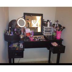 Updated makeup storage #organization #vanity #collection