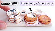 Miniature Polymer Clay Blueberry Cake Scene Tutorial // Maive Ferrando