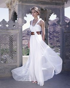 Amanda Wakeley Rahjastan wedding dress collection #greek #style #dress