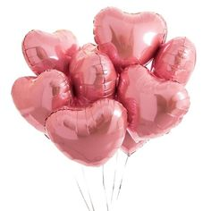 Inflated One Dozen Pink Heart Foil Balloons by Bubblegum Balloons, the perfect gift for Explore more unique gifts in our curated marketplace. Bubblegum Balloons, Heart Balloons, Helium Balloons, Confetti Balloons, Foil Balloons, Latex Balloons, Kids Party Decorations, Bridal Shower Decorations, Wedding Decorations