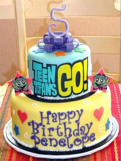 teen titans go birthday cake