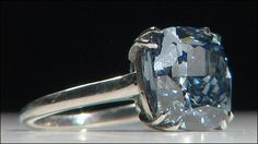 Rare Blue Diamond  It weighs 7.03 carats and is one of only a handful of blue diamonds in existence in the world.   The diamond was found in South Africa and is on show at Sotheby's, in Mayfair, until auction. It will be auctioned in Geneva . The gem, which was cut from a 26.58 carat rough diamond, was discovered in 2008 at the Cullinan mine. It may set a world record price per carat.