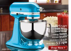 KitchenAid Stand Mixers. Absolutely gorgeous! Can't stand it! :-)