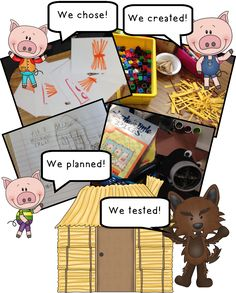 The Three Little Pigs and the Big, Bad, Challenge! The Three Little Pigs and The Big Bad Pig – Great, interactive activity to use after reading the story! {Perfect for actively engaged students! Traditional Tales, Traditional Stories, Interactive Activities, Stem Activities, 3 Little Pigs Activities, Fractured Fairy Tales, Fairy Tales Unit, Kindergarten Stem, Fairy Tale Theme