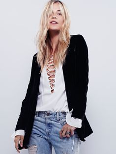 Free People Yesterday's Muse Velvet Jacket at Free People Clothing Boutique