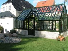 Classical Orangeries provides beautiful, authentic english victorian orangery greenhouses → Designed to be the perfect environment for your plants! Patio, Backyard, Conservatory House, Garden Pavillion, Vintage Industrial Lighting, Forest House, Small Garden Design, Outdoor Living, Outdoor Decor