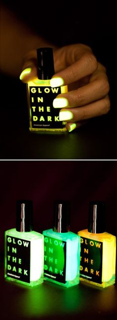 Glow in the dark nail polish.