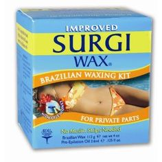 Surgi-wax Brazilian Waxing Kit For Private Parts, 4-Ounce Boxes (Pack of 3) (Health and Beauty) http://www.amazon.com/dp/B001A43ELC/?tag=whthte-20 B001A43ELC
