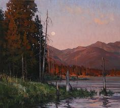 Josh Elliott - Echoes of the Sun - Oil. Killer painting - beautiful mood and color!!