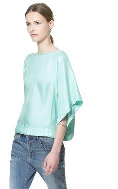 KIMONO BLOUSE from Zara