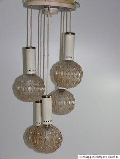R071 } DDR Lampe / Deckenlampe / Leuchte aus den 70er Jahren SPUTNIK