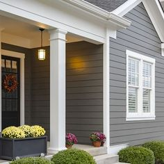 Getting ready to paint your home's exterior? Find our favorite exterior color schemes and tips for picking house paint colors. This appealing array of homes combine paint colors in charmingly impactful ways. Exterior Color Combinations, Exterior Color Palette, Exterior Paint Colors For House, Paint Colors For Home, Exterior Colors, Exterior Design, Siding Colors For Houses, House Siding Options, Exterior Siding Options