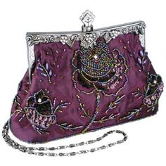 Purple beaded purse