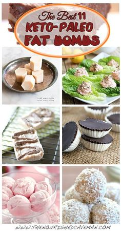 A roundup of the 11 best recipes of Keto Paleo fat bombs. Low carb Gluten free Atkins Weight Watchers THM LCHF