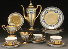 Pottery, Porcelain & Glass Disciplined Haviland Limoges Coffee Pot Style Empire Tea/coffee Porcelain White Pottery