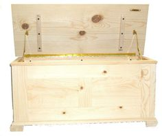 Unfinished Furniture Toy Chest | Hope Chest, Unfinished Pine with Cedar Lining - $269.95 - Handmade ...