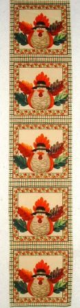 "thanksgiving day quilts | Fall Funny Turkey Thanksgiving Quilt Block Squares ""6 