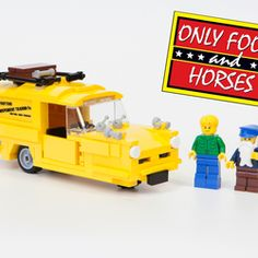 Only Fools and Horses is Britain's favourite comedy series and it would be lovely jubbly to have the iconic yellow Trotter van available as a Lego set. This van design comes complete with three mini-figures: Del Boy - complete with flat cap and necklace Rodney - in his camouflage jacket Uncle Albert And, of course, the van comes complete with Del's suitcase of hooky gear :-)