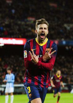 Gerard Piqué and FC Barcelona go back to the top of La Liga.