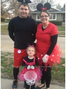 homemade family minnie and mickey mouse halloween costume - Baby Mickey Mouse Halloween Costume