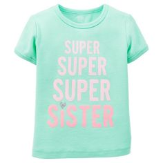 Just One YouMade by Carter's Toddler Girls' Super Sister Tee - Green, Toddler Girl's