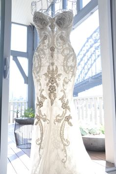 Steven Khalil Custom Made Used Wedding Dress on Sale 44% Off