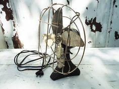 Antique Art Deco Mini Desk Fan that WORKS by SwirlingOrange11, $58.00