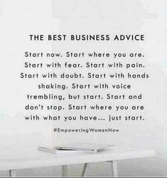 The best advice Just do it Healthy hair savings opportunity sahm Mom entrepreneur Mom boss boss babe mompreneur salon balayage ombré cut color life changing oppor. Motivacional Quotes, Babe Quotes, Quotes To Live By, Hustle Quotes, Famous Quotes, Qoutes, Business Coach, Business Advice, Small Business Quotes