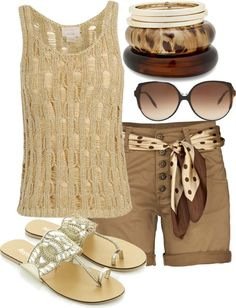 Casual summer, neutral. Shorts are longer than I like though!