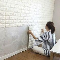 60*60cm Brick Self-adhesive Flexible 3D Art Textured Panels Wall Decal Decor New