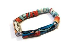 Comic Book Bracelet - Comic Strip, Upcycled, Recycle