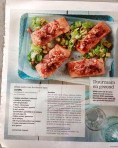 Wilde zalm met krokante ham