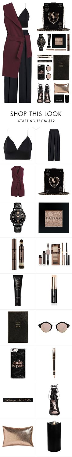"""#43"" by yasyami ❤ liked on Polyvore featuring Iris & Ink, White House Black Market, Chanel, Versace, Bobbi Brown Cosmetics, Hourglass Cosmetics, Physicians Formula, NARS Cosmetics, Smythson and Illesteva"