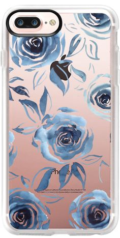 Casetify iPhone 7 Plus Case and iPhone 7 Cases. Other Floral iPhone Covers - Blue Roses by Dorina Nemeskéri | Casetify