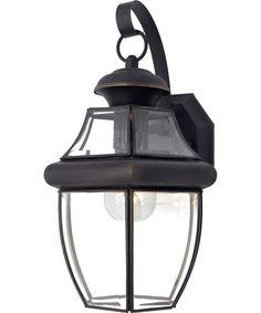 "Quoizel NY8316Z Newbury. Shown in Medici Bronze. 1800lighting.com. 150 watt bulb. 9 W x 14 T, projects 8"". 78."