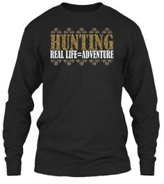 Hunting Tees Limited Edition! Black T-Shirt Front