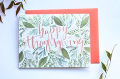 Happy Thanksgiving  Greeting Card by FrameworthyDesigns on Etsy