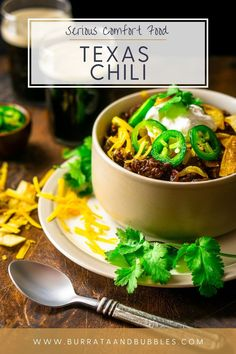 Coming from a Texan's kitchen, this authentic Texas chili is the best red chili recipe you'll ever try! This beef chili recipe is made from a dried chili paste, which gives it way more flavor and complexity than just a chili powder. Everyone always falls in love with this Texas chili recipe. #authentictexaschili #texaschilinobeans #texaschilirecipe #besttexaschilirecipe #bestredchilirecipe #redchilibeef #redchilirecipe Best Texas Chili Recipe, Beef Chili Recipe, Chili Recipes, Dishes Recipes, Food Dishes, Main Dishes, Chowder Recipes, Soup Recipes, My Favorite Food