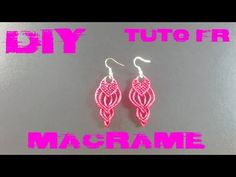 Macrame earring tutorial - Macramotiv - - YouTube
