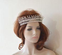 Bridal Tiara Wedding Tiaras Wedding Hair Accessories#Wedding #WeddingHairAccessories  #WeddingHairJewelry #BridalHairAccessories #WeddingHeadbans #Bridal # HairAccessories #HairJewelry