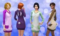 The Sims 4 | My Stuff: EP01 Get to Work Hoodie Long Bunny Converted for female adult | CAS clothing full body sleepwear