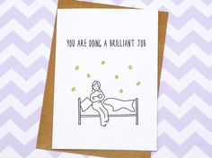 New Mum Card  Card For Mums  You Are Doing A by GinBunnyPrints