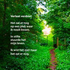 Verlaat verdriet gedichtenbeeld - Coachingskaarten -  Te vinden op: www.kaartje2go.nl/coachingskaarten